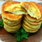 Тонкие пирожки на кефире с картофелем