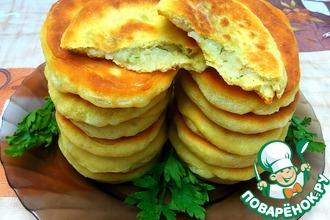 Рецепт: Тонкие пирожки на кефире с картофелем