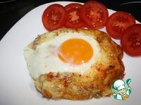 Горячий бутерброд с сыром и яйцом ингредиенты