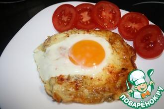 Рецепт: Горячий бутерброд с сыром и яйцом