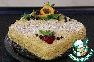 Рецепт: Торт Наполеон с кремом Пломбир