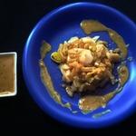 Треска с мёдом и луком