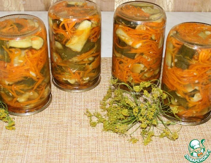 Рецепт: Салат с огурцами и морковью по-корейски