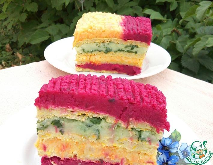 Овощной торт-закуска