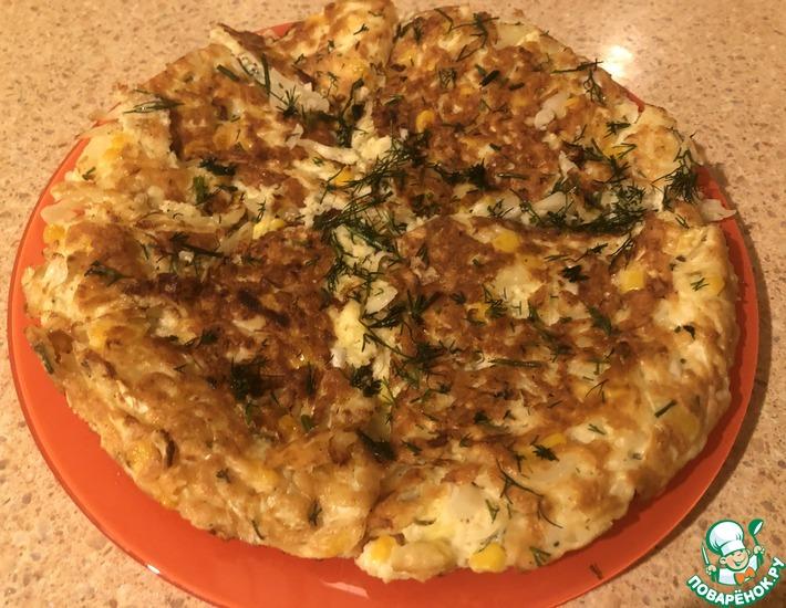 Рецепт: Капустный блин «Ужин для худеющих»