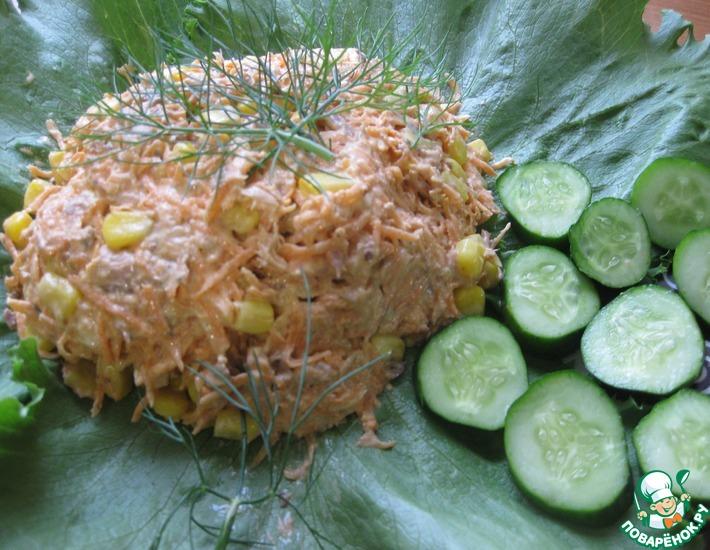 Рецепт: Салат с тунцом Простой