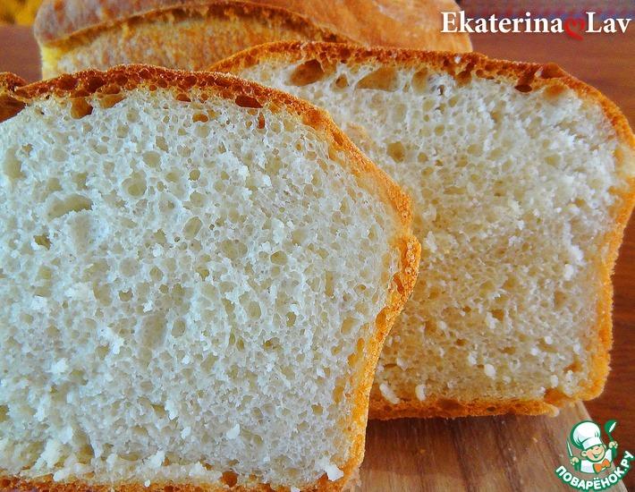 Рецепт: Хлеб без хлопот и вымешивания
