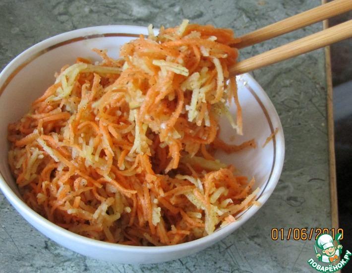 Рецепт: Картофель по-корейски