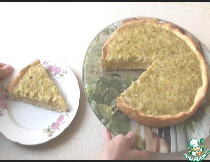 Рецепт: Домашний пирог с ревенем