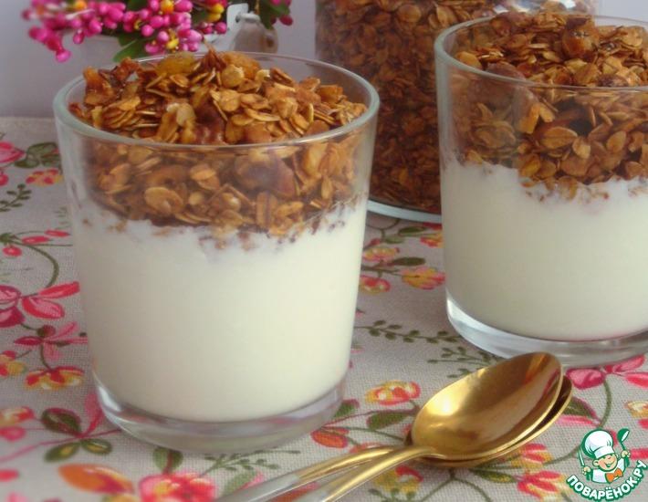Рецепт: Ореховая гранола с семенами