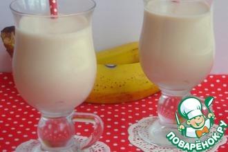 Рецепт: Банановый коктейль с карамельным пудингом