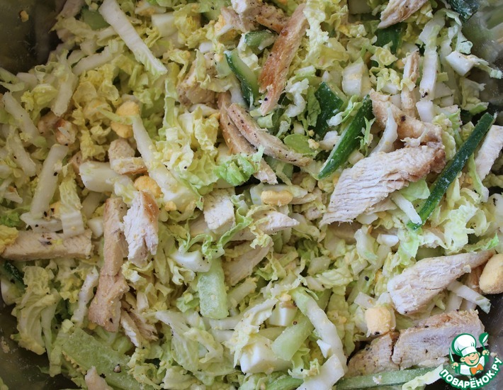 Рецепт: Салат из пекинской капусты и курицы