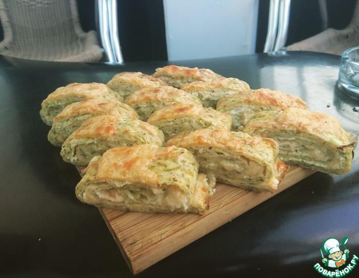 Рецепт: Вкуснейший рулет из кабачков с сыром