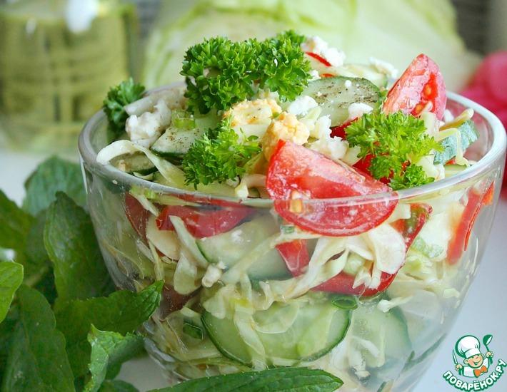 Рецепт: Капустный овощной салат