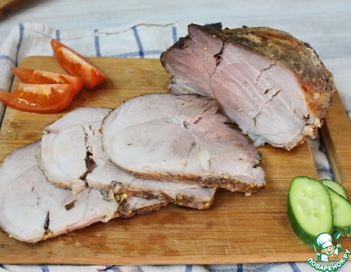 Рецепт: Буженина из свиного окорока
