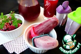 Рецепт: Фруктовый лед из замороженных ягод