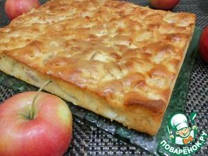 Мега яблочный пирог на кефире Разрыхлитель теста
