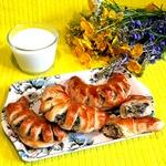 Закусочные рогалики с шампиньонами и брокколи