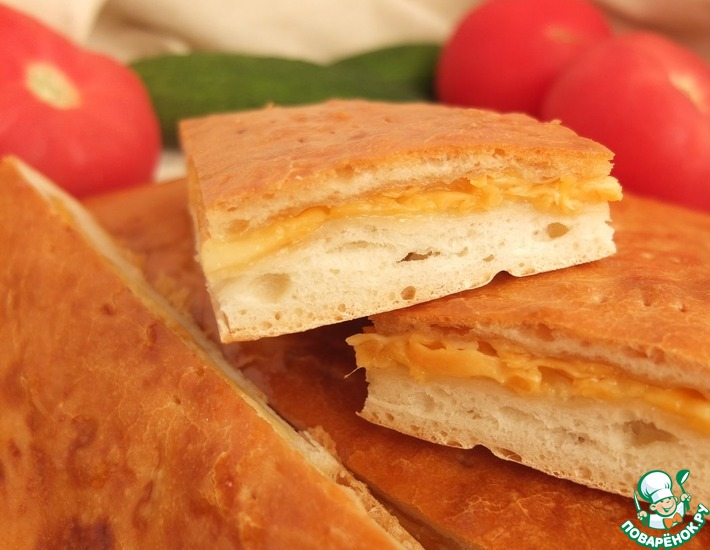 Рецепт: Лепешка с сыром