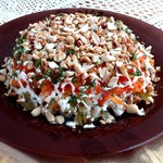 Куриный салат с арахисом
