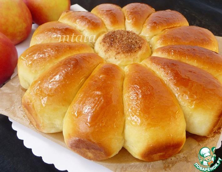 Рецепт: Дрожжевой яблочный пирог