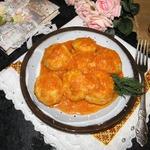 Картофельные шарики в соусе