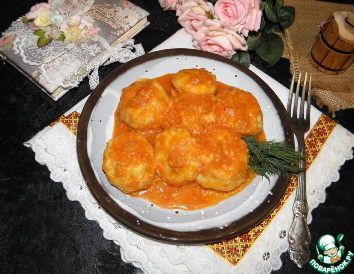 Рецепт: Картофельные шарики в соусе