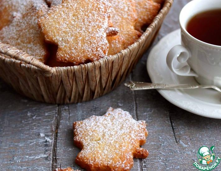 Рецепт: Песочное печенье Кокосовое