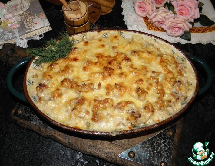 Рецепт: Картофель с фаршем По-русски