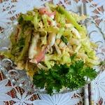 Овощной салат с острой заправкой