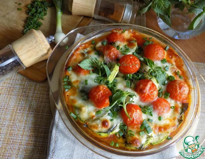Рецепт: Кабачки по-итальянски с моцареллой
