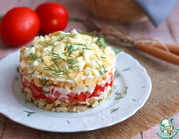 Рецепт: Салат Золотой петушок