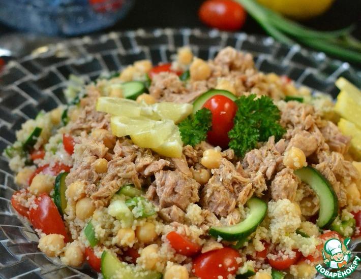 Рецепт: Салат с тунцом и лимоном