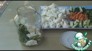 Хрустящие маринованные овощи Туршия Сахар