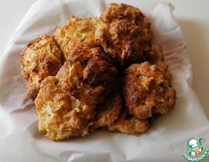 Рецепт: Творожное печенье с яблоками и корицей
