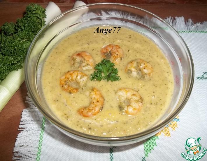 Рецепт: Крем-суп из порея и цуккини