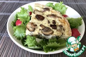 Рецепт: Тарт с шампиньонами