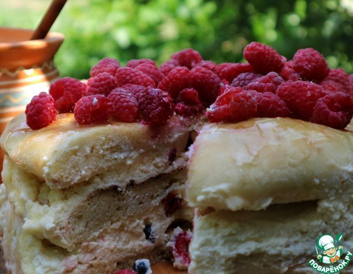 Рецепт: Творожный торт из лаваша