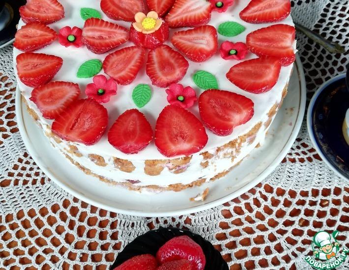 Рецепт: Торт Клубничное настроение