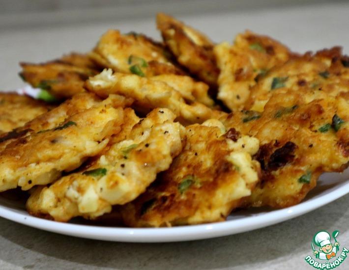 Рецепт: Завтрак из курицы и плавленого сырка