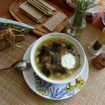 Гречневый суп с морской капустой