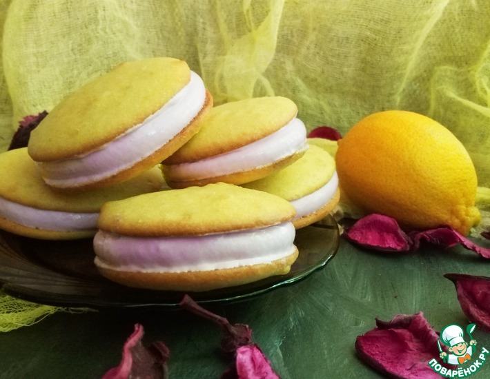 Рецепт: Яичное печенье с маршмеллоу