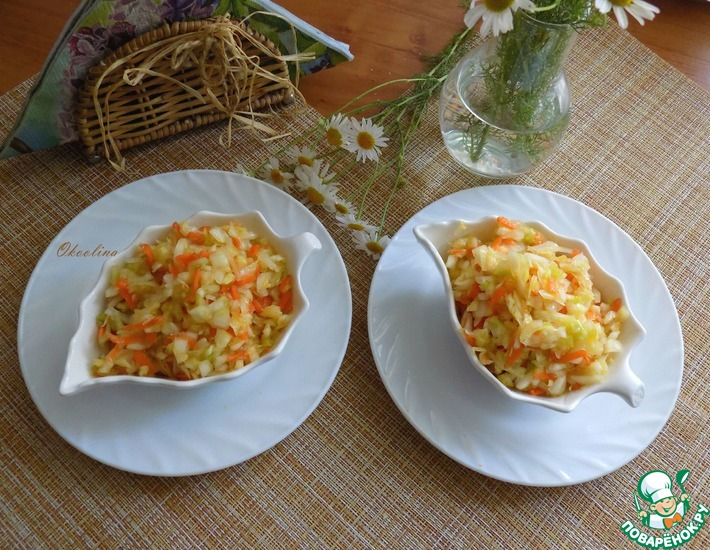 Рецепт: Капустный салат из советских времён
