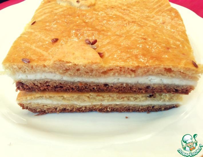 Рецепт: Творожный пирог Дружба