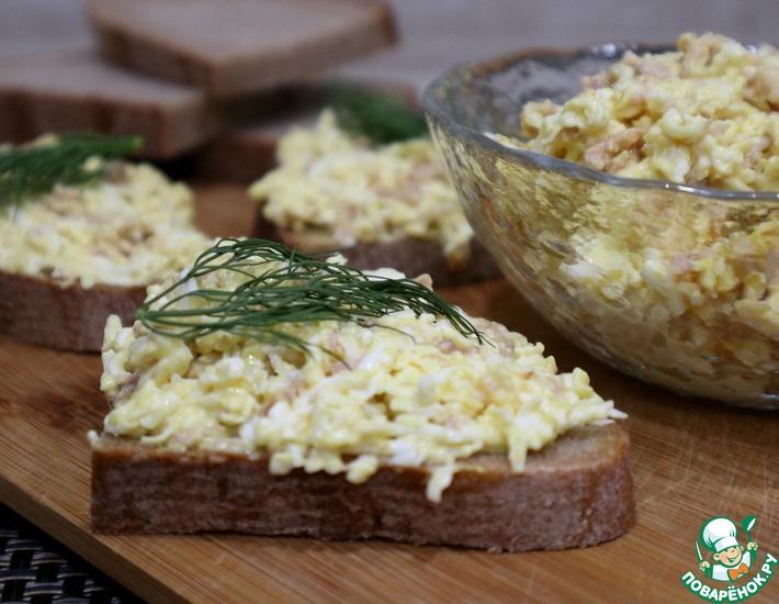 Рецепт: Намазка на хлеб из печени трески