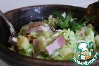 Рецепт: Салат овощной со шпиком