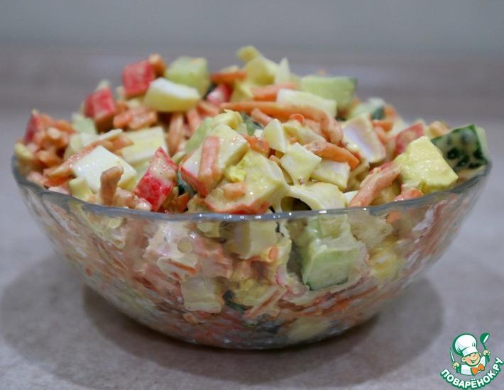 Рецепт: Салат с крабовыми палочками