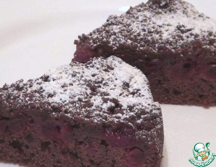 Рецепт: Шоколадный пирог с вишней