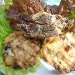 Мясные тарталетки с баклажаном