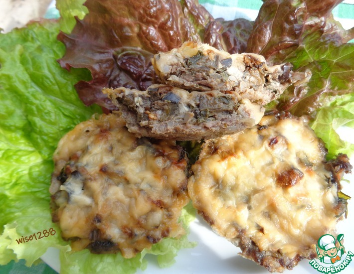 Рецепт: Мясные тарталетки с баклажаном